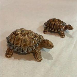 🎉Host Pick~Vintage Wade Porcelain Set of Turtles